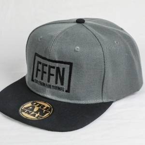 Grey Flat Peak Hat | FFFN